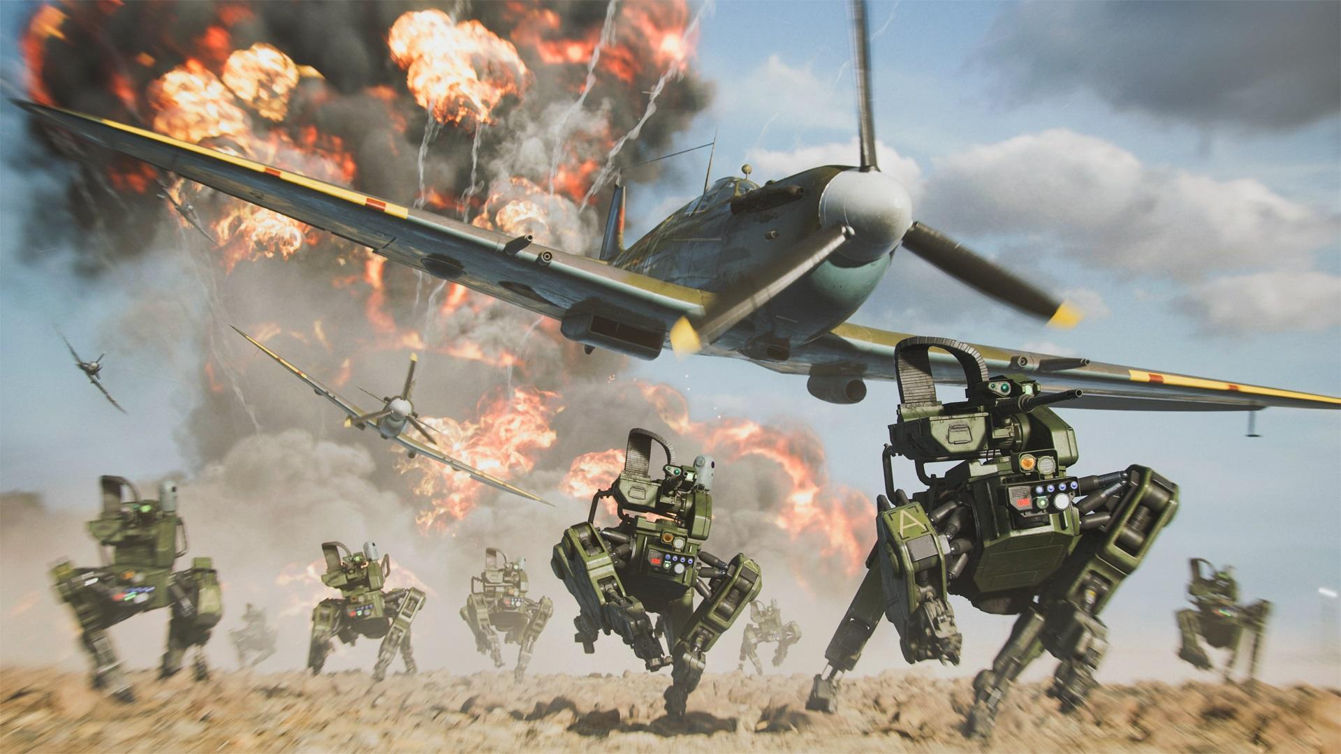 Battlefield 2042 robots running