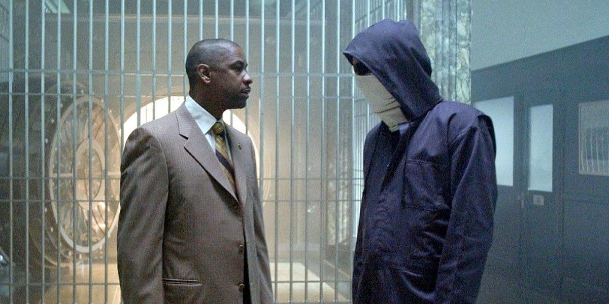 Denzel Washington and Clive Owen in Inside Man