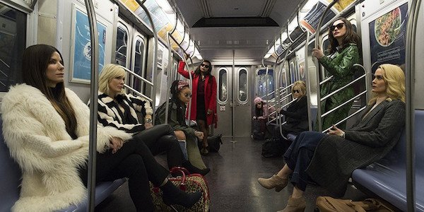 Ocean's 8 cast riding the subway