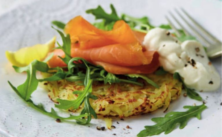 Aldi rosti with smoked salmon