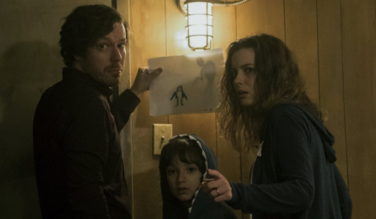 John Gallagher Jr and Gillian Jacobs in Come Play