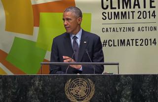 Obama speaking at summit