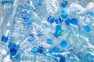 A pile of plastic bottles.