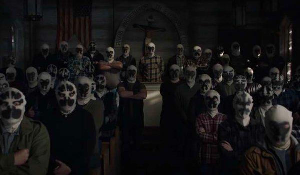 Watchmen Rorschach followers gathered in church