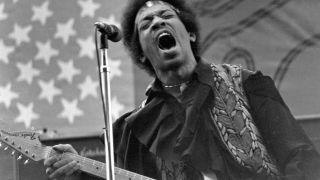 Jimi Hendrix on stage