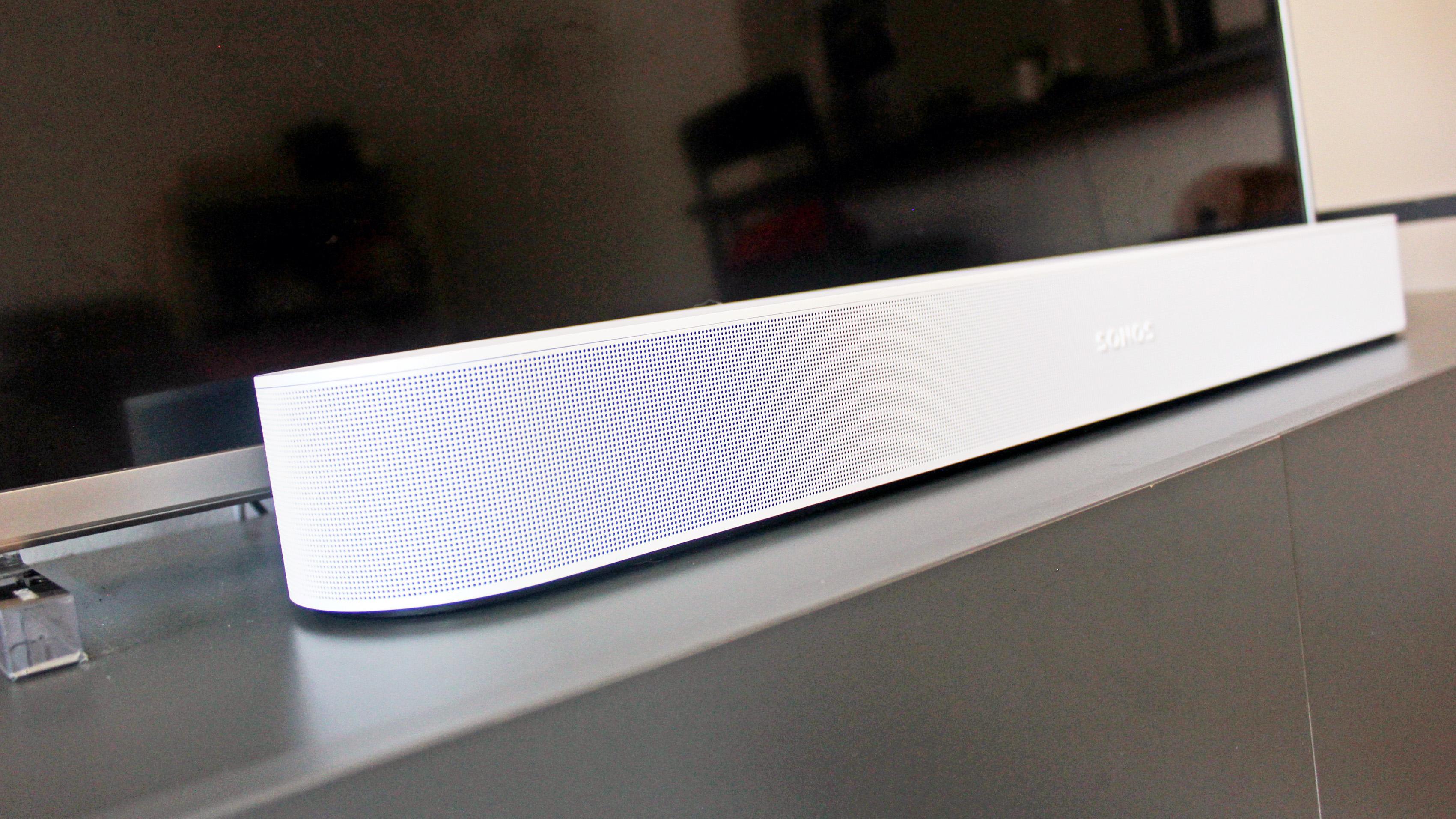 the sonos beam gen 2 soundbar in white