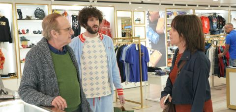 Lil Dicky (Dave Burd) isn't quite sure what to do when his parents get into a screaming match while taking him shopping for clothes.