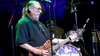 Rock and Roll Hall of Fame inductee Steve Cropper, founding member of Booker T. & the MG's and the Blues Brothers Band, performs onstage at The Rose on September 28, 2018 in Pasadena, California.