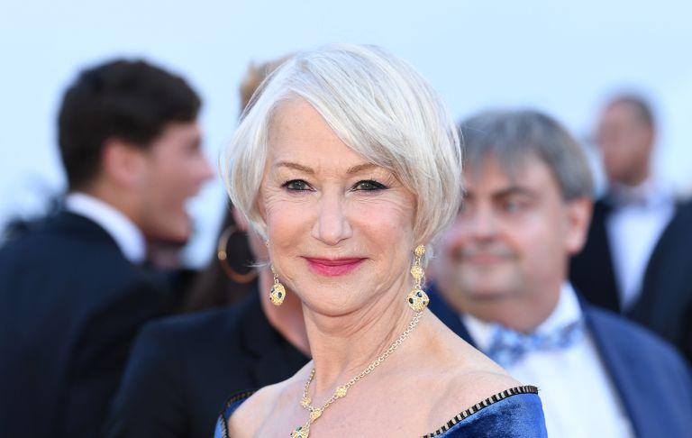 """Actress Helen Mirren attends the screening of """"Girls Of The Sun (Les Filles Du Soleil)"""" during the 71st annual Cannes Film Festival at Palais des Festivals on May 12, 2018 in Cannes, France"""