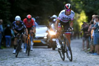 GERAARDSBERGEN BELGIUM SEPTEMBER 05 Peter Sagan of Slovakia and Team Bora Hansgrohe competes during the 17th Benelux Tour 2021 Stage 7 a 1809km stage from Namur to Geraardsbergen BeneluxTour on September 05 2021 in Geraardsbergen Belgium Photo by Luc ClaessenGetty Images