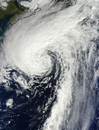 Hurricane Rafael in the North Atlantic