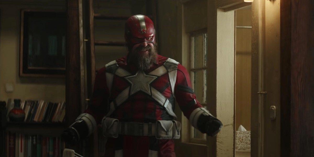 Black Widow Merchandise Reveals David Harbour's Red Guardian Shield
