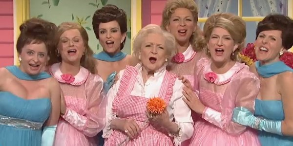 Betty White on Saturday Night Live joined by a lovely female ensemble