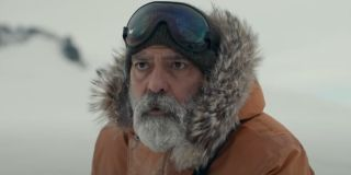 The Midnight Sky George Clooney dressed in arctic gear
