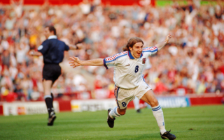 The former Manchester United and Czech Republic midfielder explains how he scored one of the most iconic goals of Euro 96 in the quarter-final against Portugal
