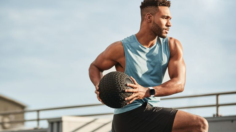 HIIT training medicine ball