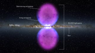 Huge Bubbles Found at Milky Way's Heart Could Signal a Black Hole Eruption