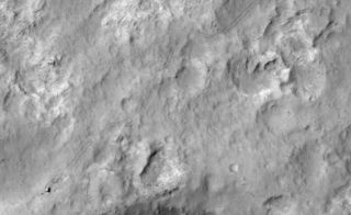 Curiosity Mars Rover from Space