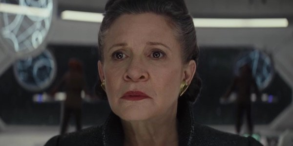 Carrie Fisher as Leia in Star Wars: The Last Jedi