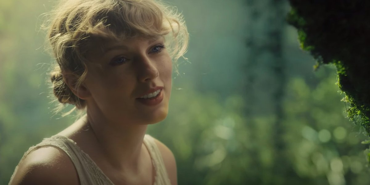 Taylor Swift in Cardigan music video