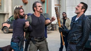Simon vs Negan in The Walking Dead Season 8 Episode 15