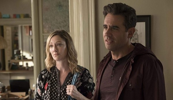 Ant-Man and The Wasp Judy Greer Bobby Cannavale Maggie and Jim look concerned