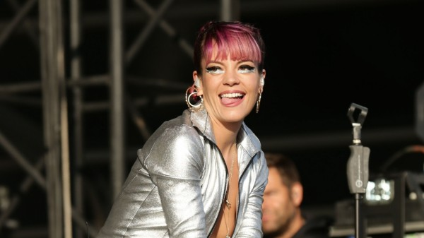 A picture of Lily Allen on stage at V