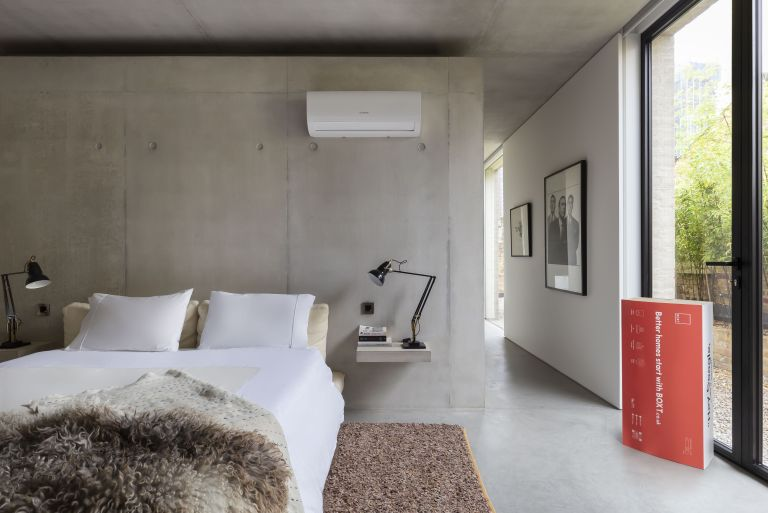 BOXT air conditioning unit in a bedroom