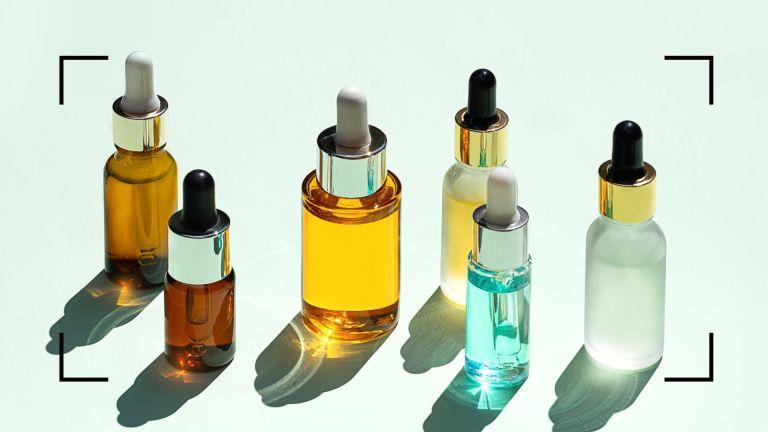 retinyl palmitate main image of a group of serum bottles