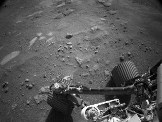NASA's Perseverance Mars rover acquired this image on Feb. 22, 2021, using its Left Navigation Camera.