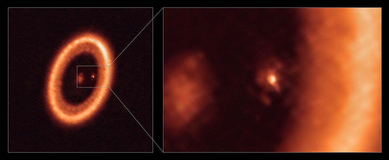 A close up of the circumplanetary accretion disc around PDS 70c