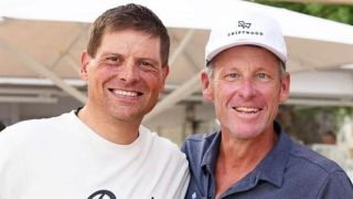 Jan Ullrich and Lance Armstrong ride together in Mallorca