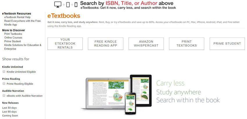 Amazon Textbook Rentals Online Review | Top Ten Reviews