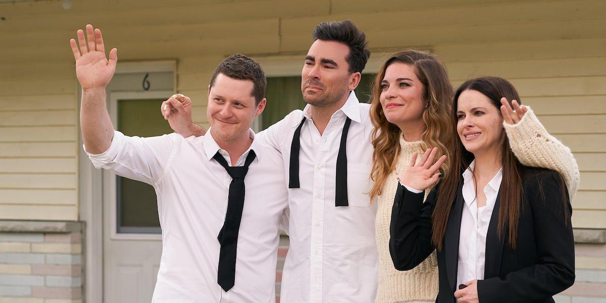Patrick, David, Alexis, and Stevie waving goodbye