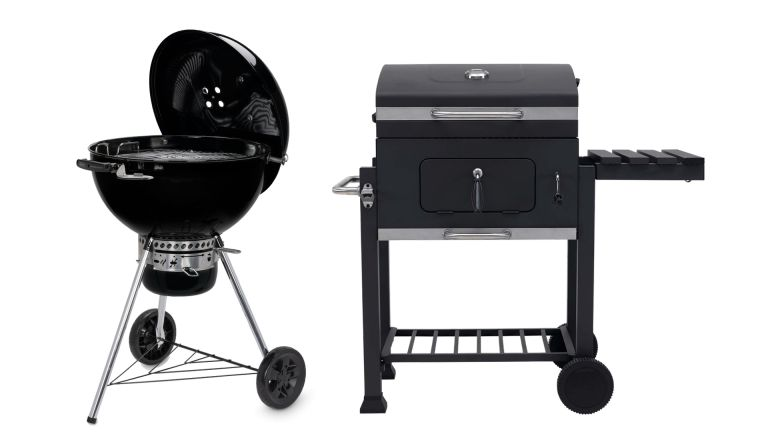 Weber Master-Touch GBS E-5755 vs Texas Franklin Charcoal BBQ