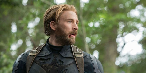 Chris Evans with a full beard in Avengers 4 out in 2019