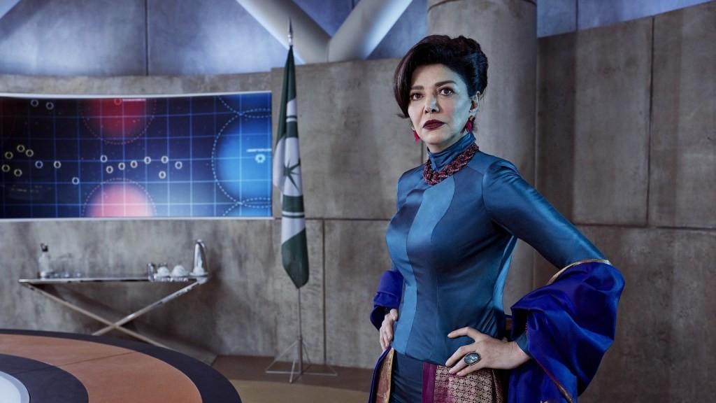 Shohreh Aghdashloo, who plays Lakshmi-2 in Destiny 2.