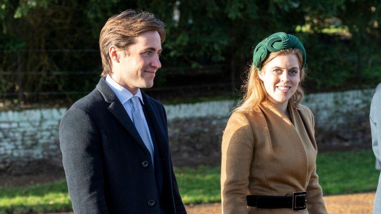 Princess Beatrice and Edoardo Mapelli Mozziconi attend the Christmas Day Church service