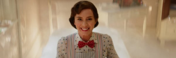 Mary going into the bath in Mary Poppins Returns