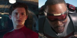 Tom Holland's Spider-Man and Anthony Mackie's Falcon