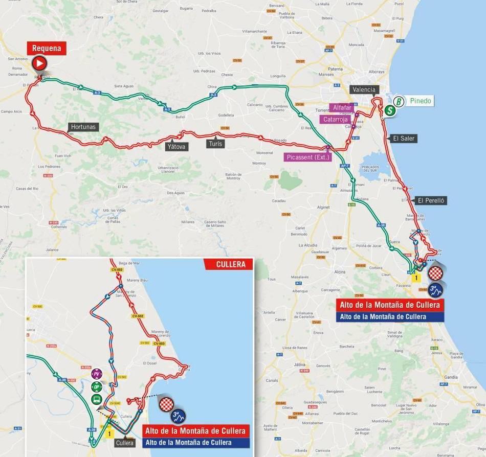 Stage 6 map of 2021 Vuelta a España