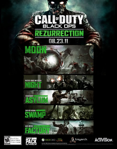 Zombies Invade The Moon In Call Of Duty: Black Ops Rezurrection Pack #18527