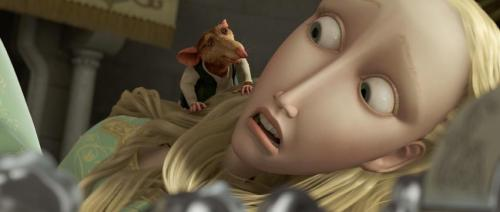 The Tale of Despereaux - Outcast rat Roscuro (voiced by Dustin Hoffman) gives Princess Pea (voiced by Emma Watson) a scare