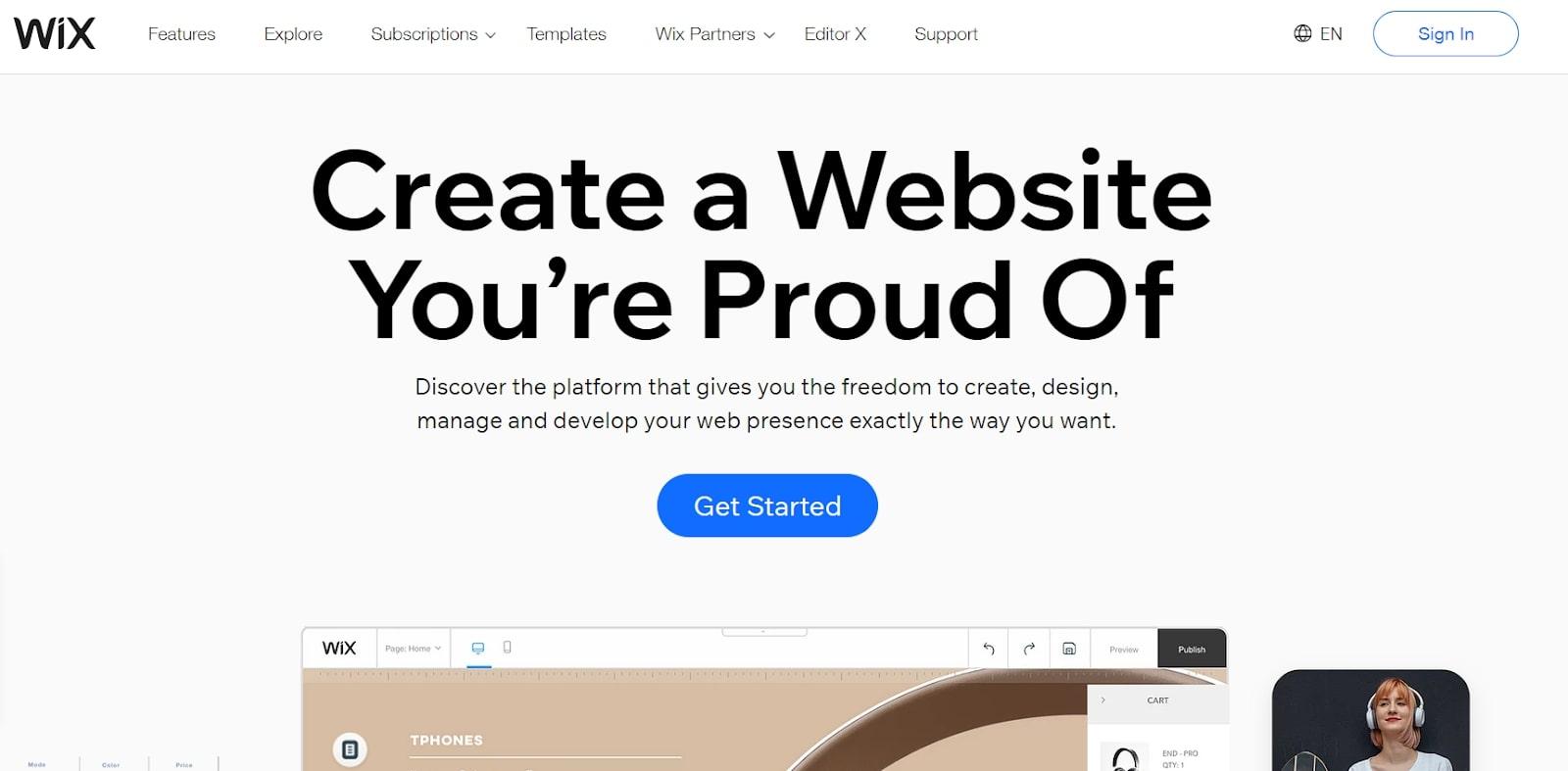 Meilleur constructeur de site Web 2020