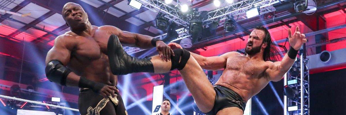 Bobby Lashley and Drew McIntyre At Payback