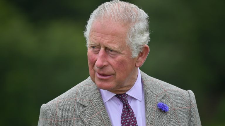 Prince Charles, Prince of Wales meets first responders who attended the scene of the ScotRail train derailment near Stonehaven, Aberdeenshire