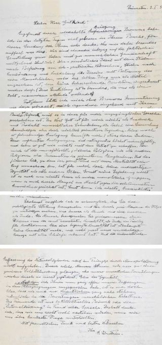 "handwritten ""god"" letter from Albert Einstein"