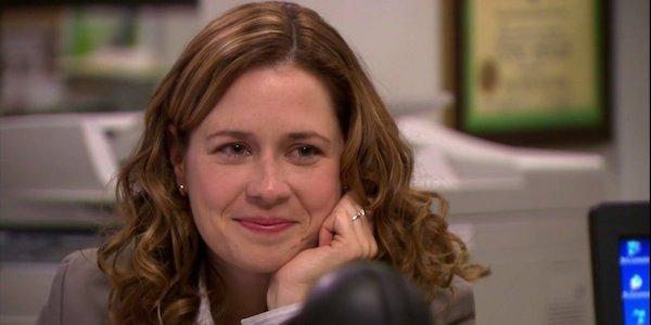 Pam smiling at Jim