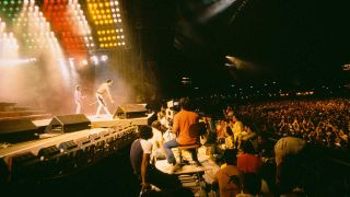 Queen onstage at Rock In Rio