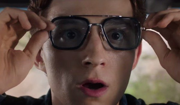 Peter Parker trying on some new shades